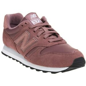 the latest 880e5 58809 Image is loading New-Womens-New-Balance-Pink-373-Suede-Trainers-