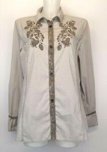 S21) GERRY WEBER Damen Bluse Hemd Blusenhemd Gr.42 XL Neu 79,95€ Stickerei