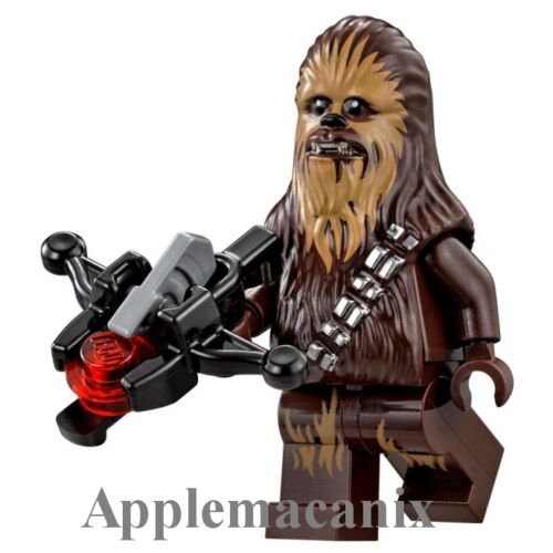NEW LEGO Star Wars MF 75105 CHEWBACCA Minifigure Figure w//2015 Bowcaster Bow