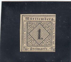 Wuerttemberg-MiNr-1a-TII-mit-BPP-Attest