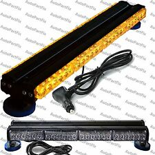 25 inch 144W LED Amber Light Magnet Warning Strobe Flash Bar Construction Roof