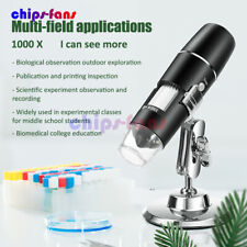1000x Wifi Digital Microscope Magnifier Camera 8 Led Stand For Android Ios