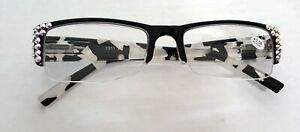 Black-and-White-Mother-of-Pearl-made-with-Swarovski-AB-Crystals-Reading-Glasses