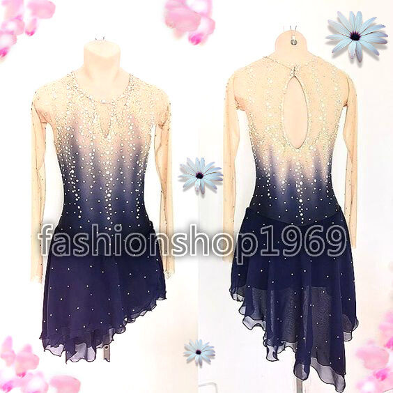 Stylish Ice Skating Dress Competition   Baton Twirling Dance Dress Costum  xx309  best prices and freshest styles