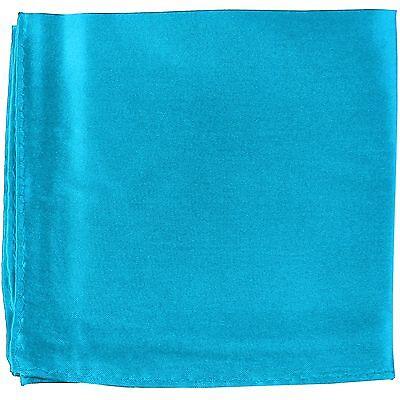 MANZO Men/'s Polyester Shiny Finish Pocket Square Hankie Only Purple
