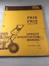 Fiat Allis Fr10 Fr12 Wheel Loader Service Specification Manual