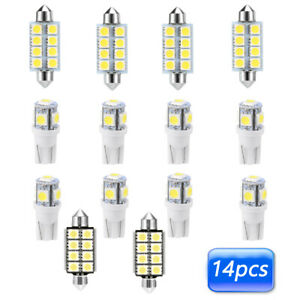 14x-White-T10-12V-LED-Auto-Car-Interior-Light-Lamp-Bulbs-Package-Kit-Accessories
