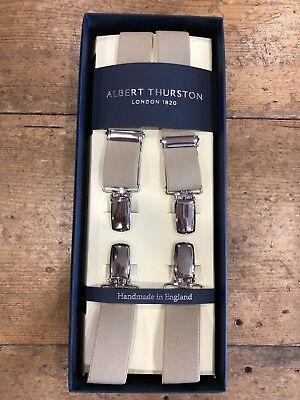 Albert Thurston Londra 1820 25mm Clip Bretelle-beige-mostra Il Titolo Originale Rafforzare La Vita E I Sinews