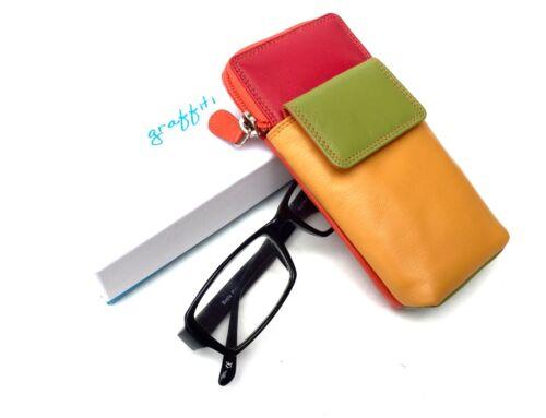 Golunski Graffiti Range Leather Multi Coloured Phone Glasses Case .7-123