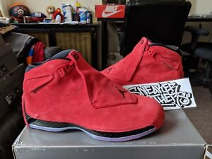 Nike Air Jordan Retro 18 XVIII Gym Red Black Suede Toro AA2494-601