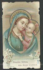 Holy card  antique Virgen del Buen Consejo santino image pieuse estampa