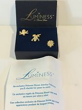 LUMINESS BY PRINCESS HOUSE SET OF PINS & BROOCHES -  FROG, LADY BUG & BEE