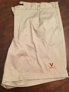 NWT-Virginia-UVA-Cavaliers-Football-Team-Issued-Nike-Dark-Khaki-Shorts-Size-44
