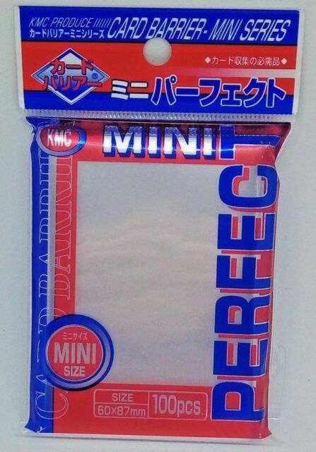KMC Perfect Mini Size 100 Small Clear Card Sleeves Yu-Gi-Oh Cardfight!!