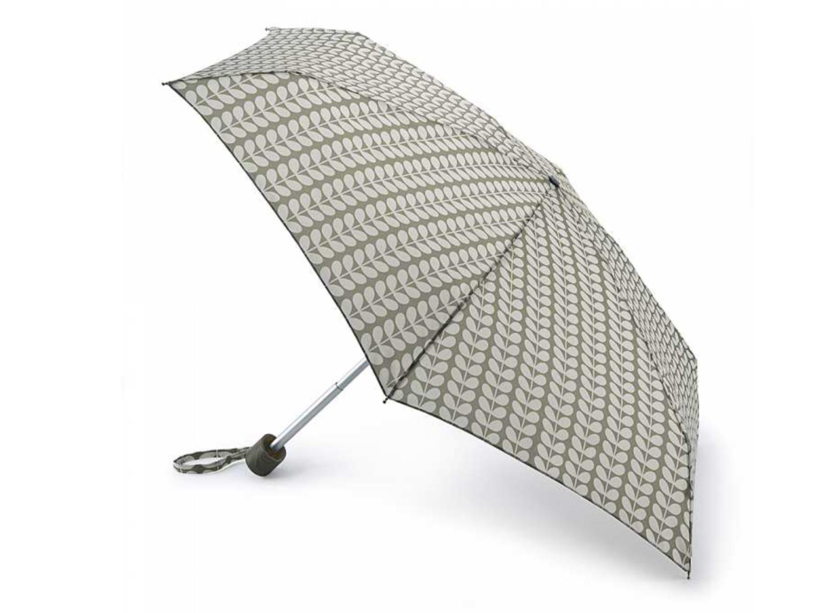 Fulton Orla Kiely Tiny Stem compact Umbrella handbag Beige Cream RRP