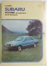 1972-1981 clymer publications subaru including brat wiring diagrams shop  manual