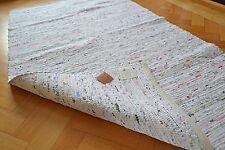 Large Rug White Pastel Chindi Chic Shabby Soft Handmade Cotton 180x240cm 6x8 New