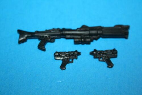 "STAR WARS ARMES MODERNES Lot 3 PC /""Blasters/"" COMMANDANT BLY grande forme figure"