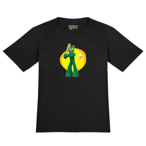 Baseball Player Gumby Men/'s Novelty T-Shirt