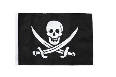 Pirat mit Säbel Autofahne Autoflagge Fahnen Auto Flaggen 30x40cm