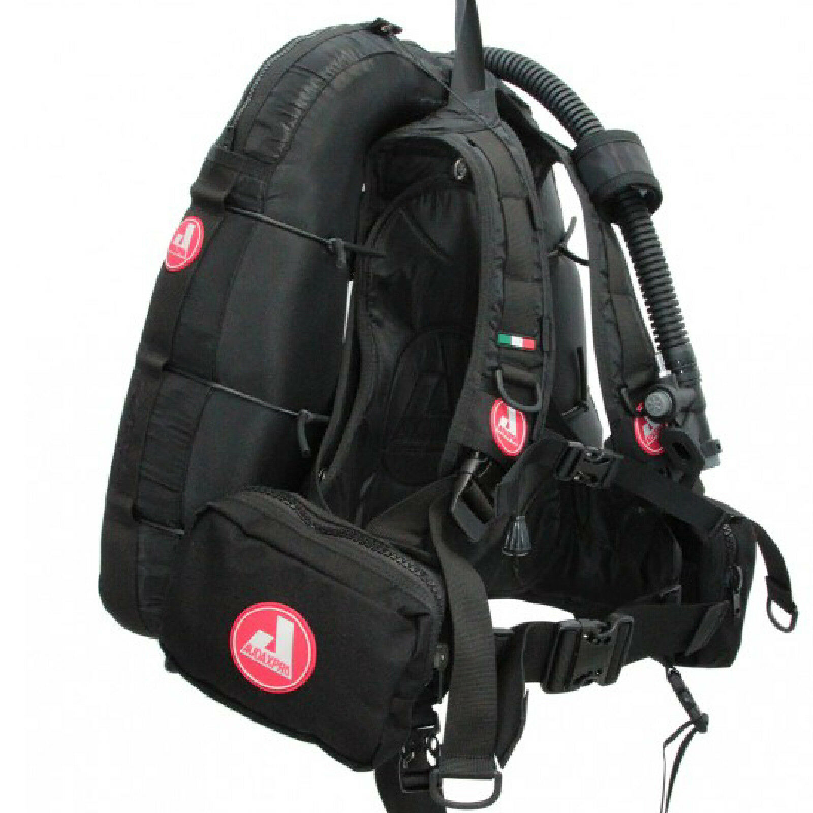 RO1 AUDAXPRO JACKET GAV BCD TRAVEL nero TASCA ORIZZONTALE 2 DUE  ZIP