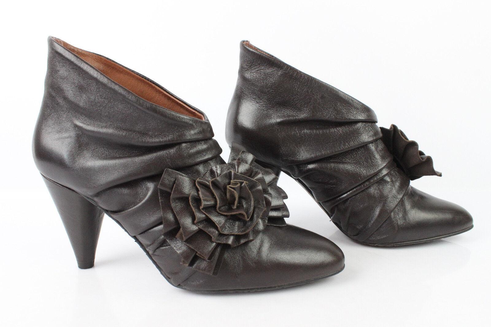 Stiefel Stiefeletten RAS Leder dunkelbraun Zustand T 38 sehr guter Zustand dunkelbraun c7e730