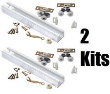 "(2) L E Johnson 100721DR 72"" HD  Aluminum Single Pocket Door Track Hardware Kits"
