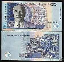 LOT p64 Polymer x 5 PCS UNC Mauritius 25 Rupees 2013