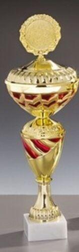 Sport-Pokal mit Ihrer Wunschgravur//Emblem gold//rot 57076