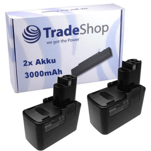 2x Batterie 12v pour Bosch 2607335107 2607335108 2607335081 3000mah