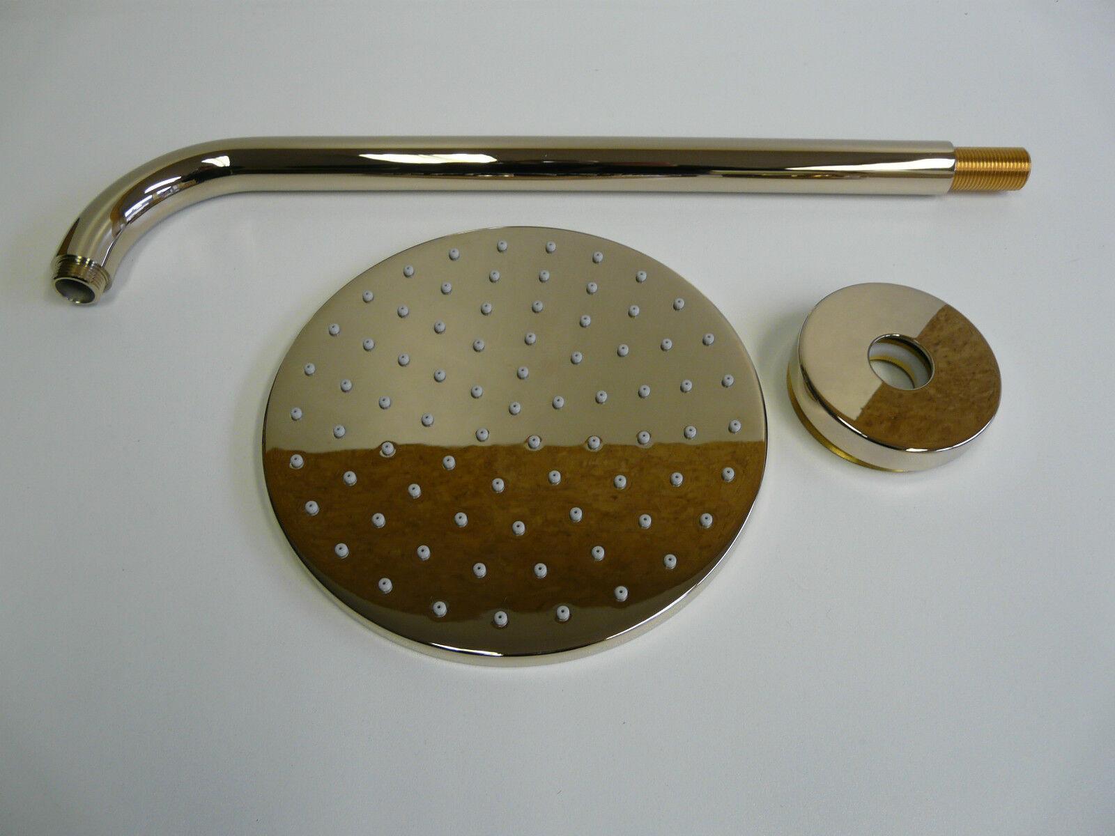 Regenbrause Edelmessing, Brause, Kopfbrause, Tellerkopfbrause, 200mm
