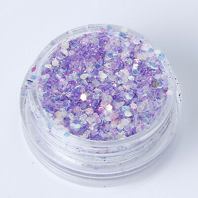 Mixed Flake Chunky Glitter Pots Nail Art Eye Shadow Tattoo Crafts Card Making