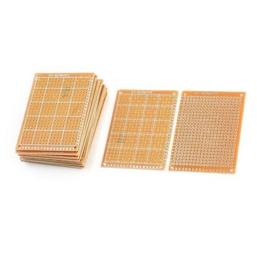 Bakelite 20Pcs Single Side Kupfer PCB Prototyping Matrix Tabelle 7cmx5cm M6Q4
