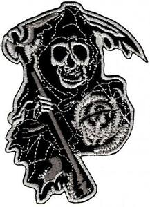 bc56-MC-Chopper-Biker-Aufnaeher-Buegelbild-Patch-Totenkopf-Skull-Sons-of-Anarchy