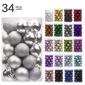 34Pcs-Glitter-Christmas-Balls-Baubles-Xmas-Tree-Hanging-Ornament-Xmas-Decor
