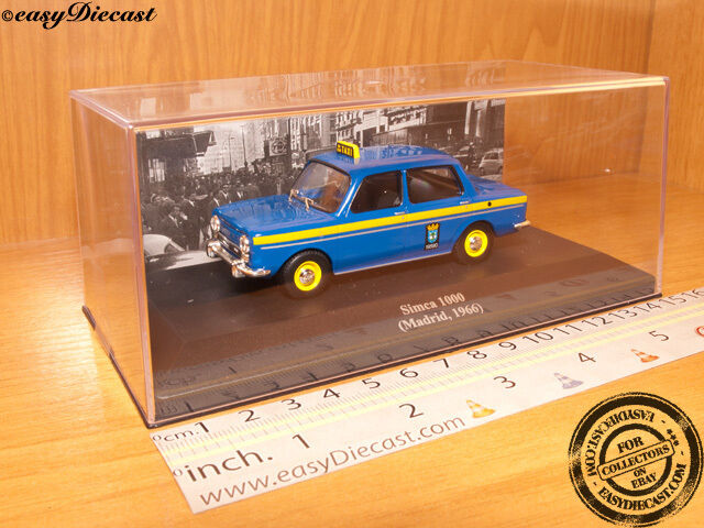 SIMCA 1000 TAXI CAB 1:43 MADRID (SPAIN) 1966 MINT!!!