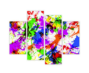 LARGE CANVAS PRINTS WALL ART COLOUR SPLASH ABSTRACT PANEL ...