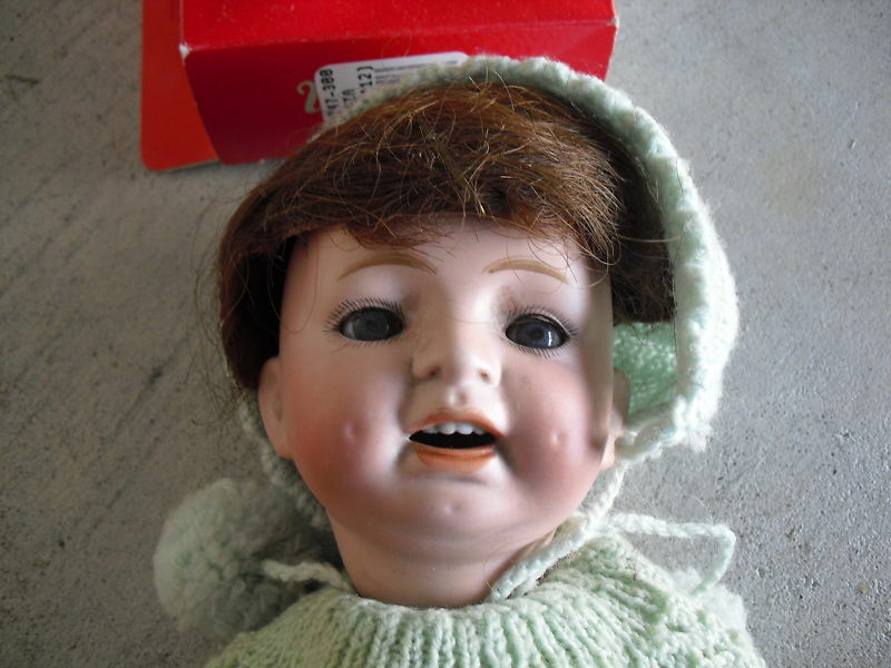 1920s Japan Bisque Head Composition Doll MB Mark LOOK