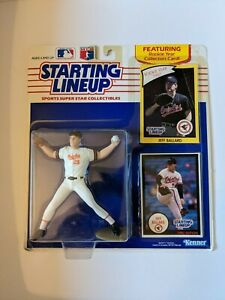 1990 JEFF BALLARD Starting Lineup SLU MLB BALTIMORE ORIOLES Baseball Figure Card
