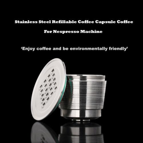 STAINLESS Steel Reusable Capsule Permanent Coffee Pod Holder Nespresso Machine