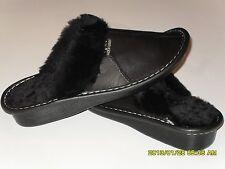 Genuine Lambskin Sheepskin Shearling Leather Slippers Women US 9.5-10, EU 41 NWT