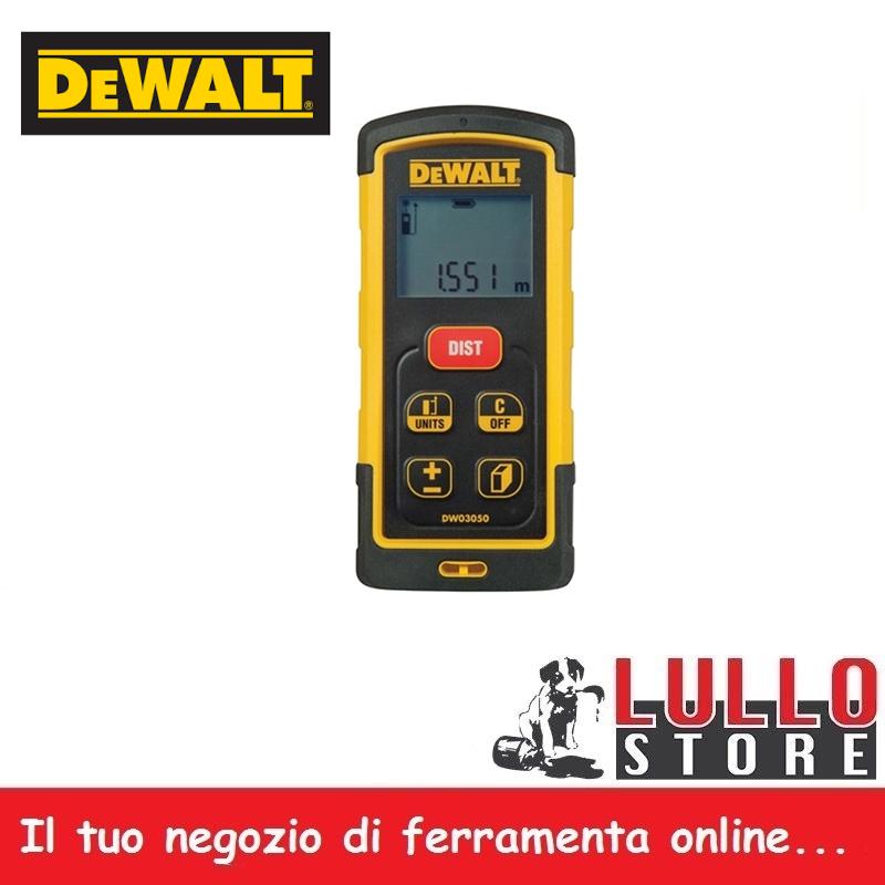 Metro Laser Misuratore Laser max 50 mt LCD IP 65 funzioni calcolo DEWALT DW03050