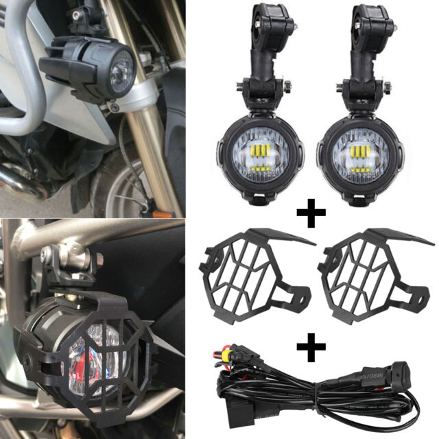Awesome Led Auxiliary Fog Lights Protector Cover Wiring Harness For Bmw Wiring Database Xlexigelartorg
