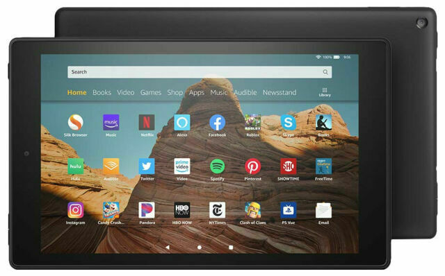 Amazon Fire Hd 10 9th Generation 64gb Wi Fi 10 1in Black With Special Offers For Sale Online Ebay