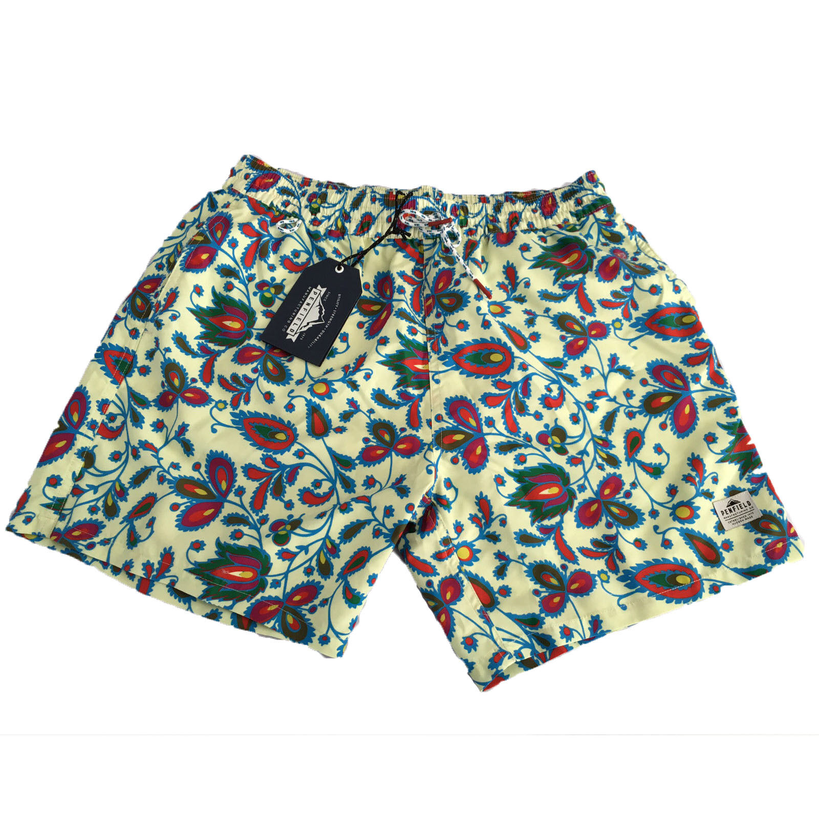 PENFIELD men's swimwear mod SEAL SWIMMER FLORAL SHORT 100% polyester