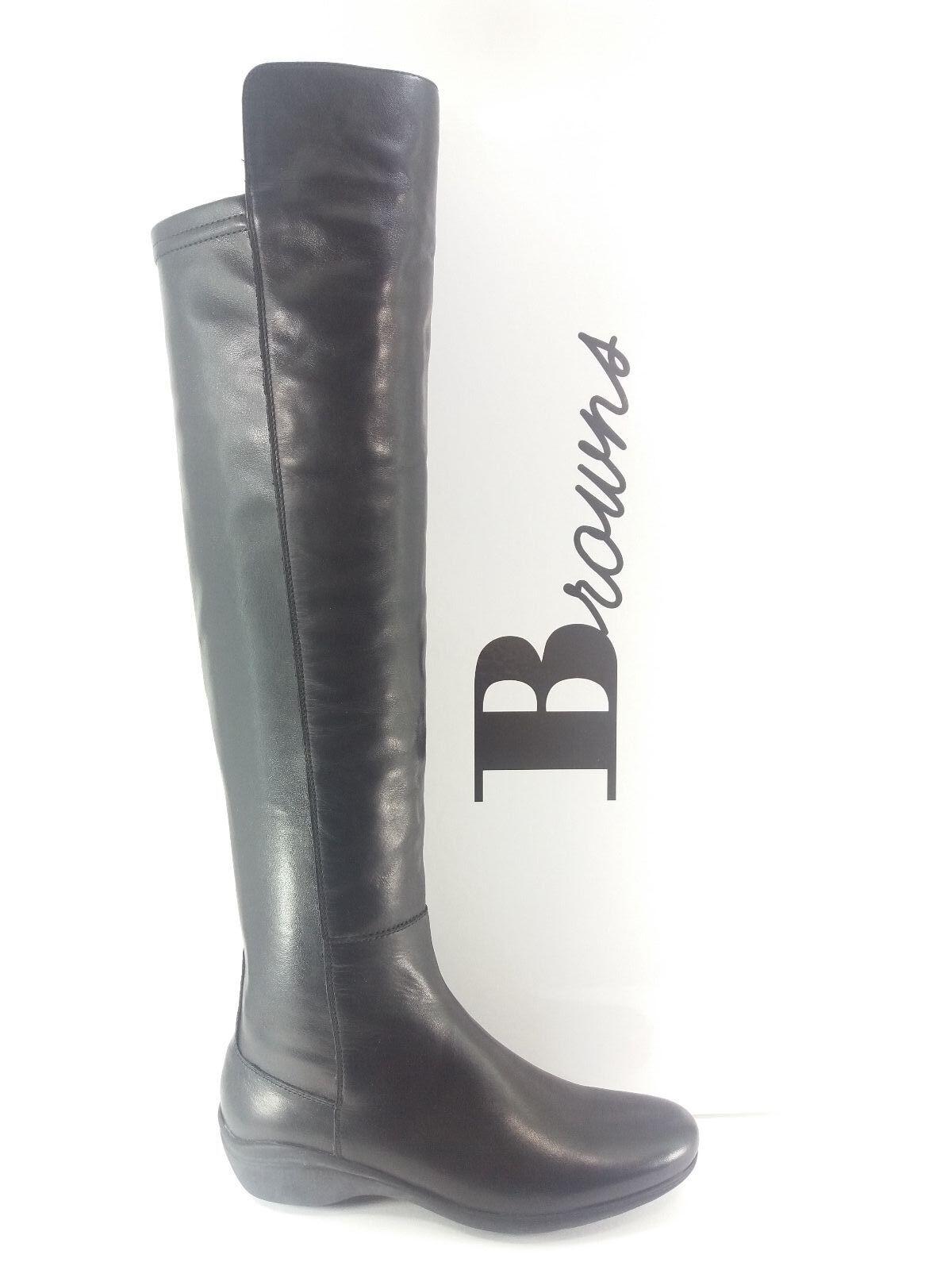 Zapatos señora zapatos i16-br 36 36 36 marróns botas negro 100% cuero Made in   en stock