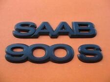 94 95 96 97 98 SAAB 900 S REAR TRUNK GATE LID EMBLEM LOGO BADGE SIGN OEM SET #2