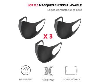 Lot-x3-masque-en-tissu-lavable-reutilisable-coton-noir-respirant