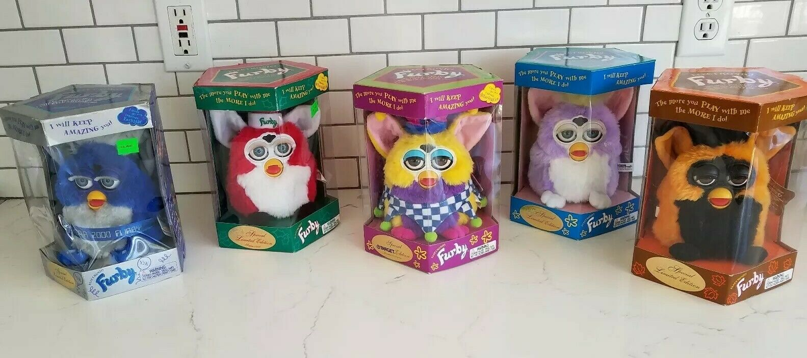 5 SPECIAL EDITIONS  Classic Original Vintage Furby's Tiger Electronics 1998-2000