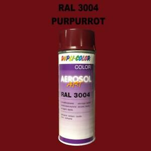 Dupli Color Spray Can 400ml Shiney Quick Drying Ral 3004 Purple Red